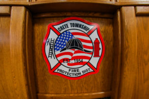 Crete Township Fire Protection District Logo on Wall