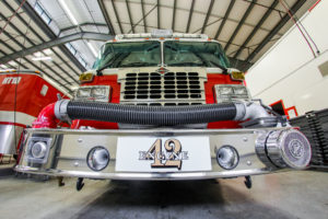 Crete Township Fire Protection District Front of Fire Truck