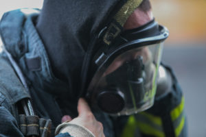 Crete Fire Protection Team Training Putting Mask On