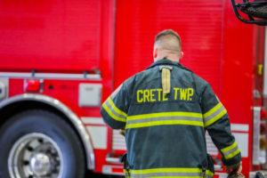Team member walking through the fire house