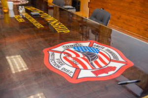 Crete Township Fire Logo On Table