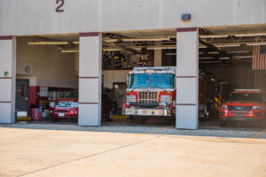 Crete Township Fire Protection District Garage Doors Open